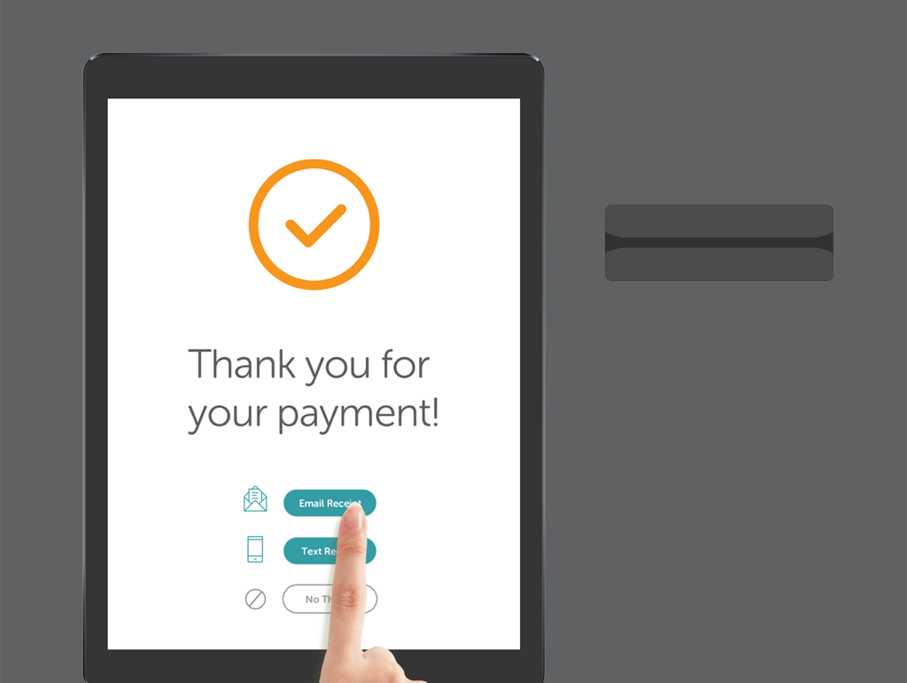 Payment confirmation, choose form of receipt